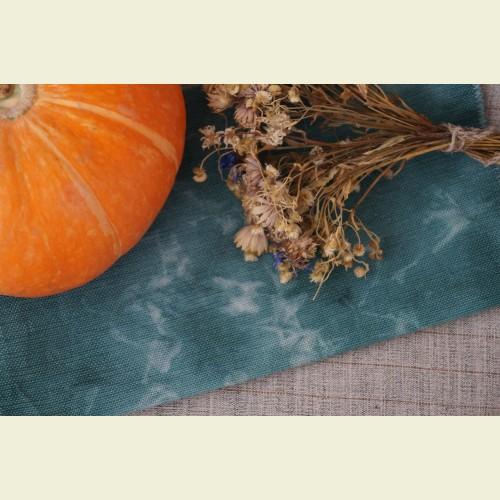 Ткань для вышивки ручного окрашивания «Rich emerald»
