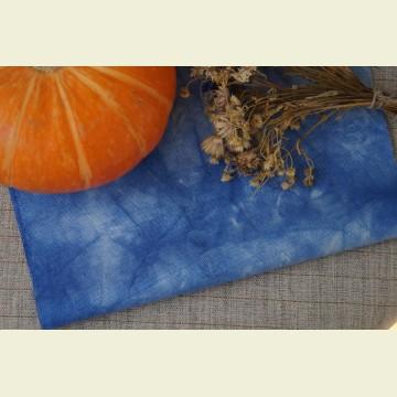 Ткань для вышивки ручного окрашивания «Dawn blue»