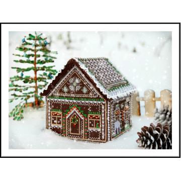 Схема для объемной вышивки «Пряничный домик»