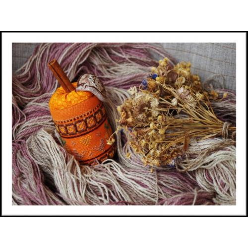 Схема для объемной вышивки «Примитивная тыква»»