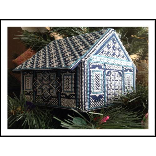 Схема для объемной вышивки «Ажурный домик»