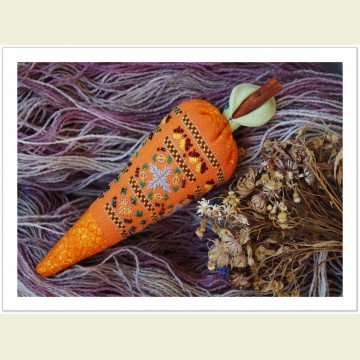 Схема для объемной вышивки «Примитивная морковь»