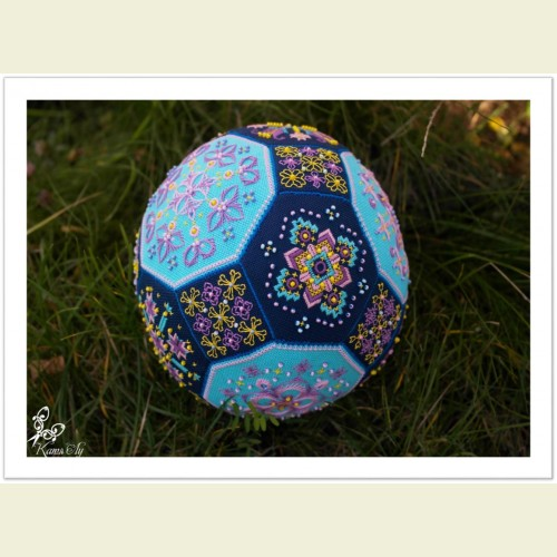 Схема для объемной вышивки «Цветущий лотос»
