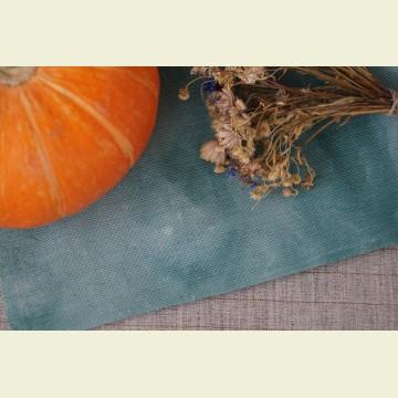 Ткань для вышивки ручного окрашивания «Delicate emerald»
