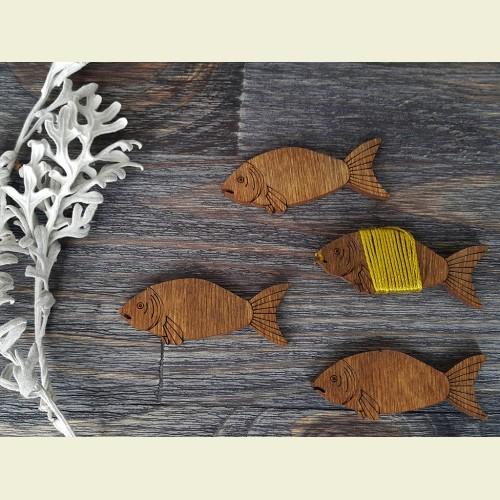 Бобинка «Суровая рыба» из «Морской» коллекции.