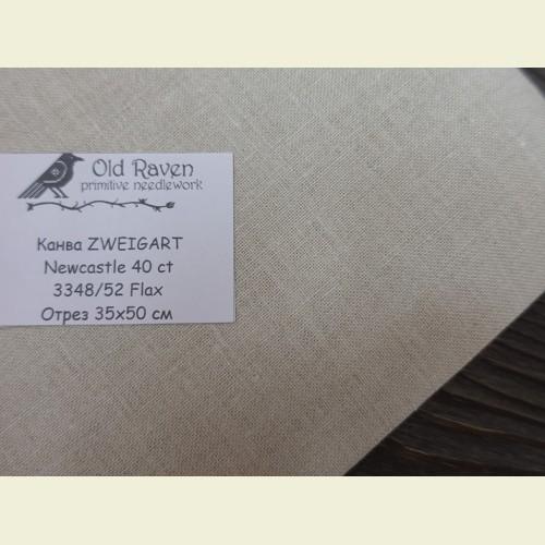 Канва 40 ct. Newcastle 3348/52 (цвет натурального льна) Flax отрез 35х50