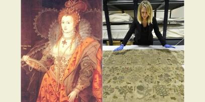 Вышитая юбка королевы Елизаветы I нашлась в церкви в Херефордшире