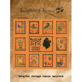 English postage stamps sampler