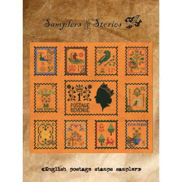 English postage stamps sampler